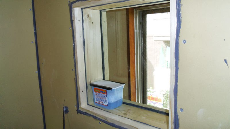 Finished window with dessicant placed between panes