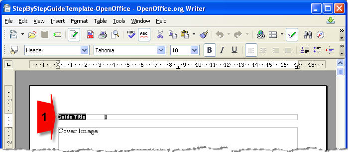 Editing Open Office template